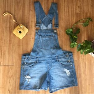 Denim Short Overalls (shortalls) - Blue Spice